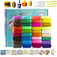 Air Dry Clay Kit,36 Colors Super Light Modeling Clay Set, Soft Modeling Dough with...