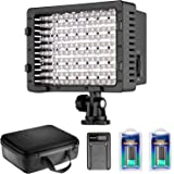 Neewer Camera Camcorder 216 LED Video Light Dimmable LED Panel Lighting Kit with 2-pack 2600mAh NP-F550 Replacement Li-ion Battery,USB Charger and Carrying Case for Photo Studio YouTube Video Shooting