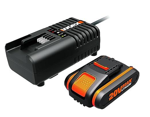 Worx WA3601 Batería + Cargador, 40 W, 20 V