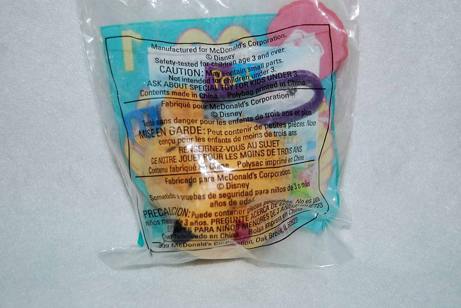 Amazon.com: Disney McDonalds Winnie The Pooh Plush Happy Meal Backpack Clip # 1 Winnie: Toys & Games