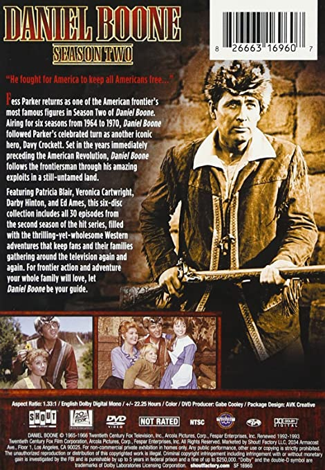 Amazon.com: Daniel Boone: Season Two: Fess Parker, Patricia ...