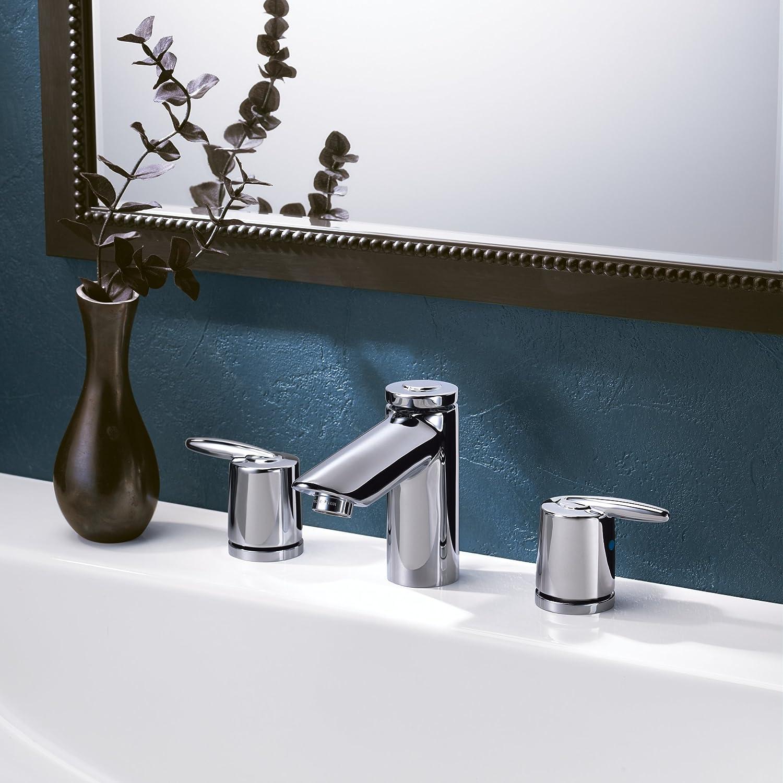 Delta 3585LF-SSMPU Grail Two Handle Widespread Bathroom Faucet ...