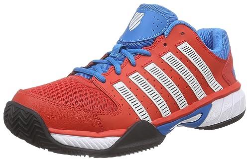 K-Swiss Performance Express HB, Zapatillas de Tenis para Hombre, Rojo-Rot (FIERYRED/METHYLBLUE/White), 49 EU: Amazon.es: Zapatos y complementos