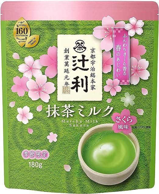 片岡物産 辻利 抹茶ミルク さくら風味 180g×12袋入