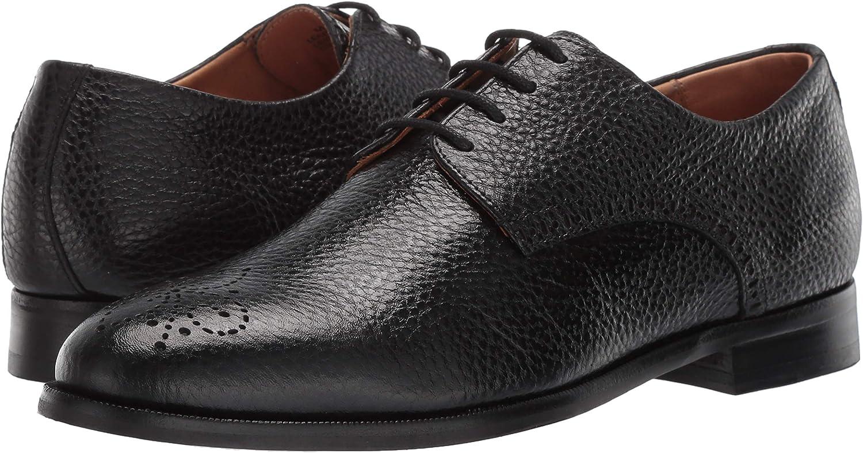 10.5 M US Black Grainy MARC JOSEPH NEW YORK Mens Leather Oxford Lace-Up Wingtip Dress Shoe