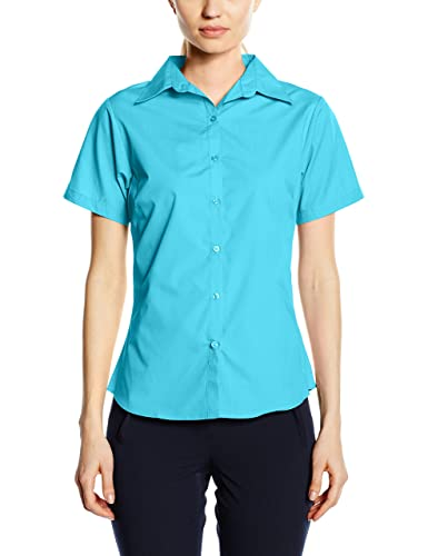 Premier Workwear Ladies Short Sleeve Poplin Blouse, Blusa para Mujer