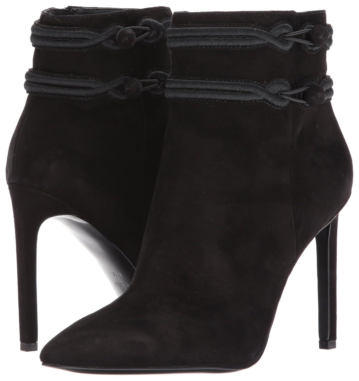 Nine West Women's Teresa B(M) Suede Ankle Boot B01MV424Y3 7.5 B(M) Teresa US|Black/Black 0f984a