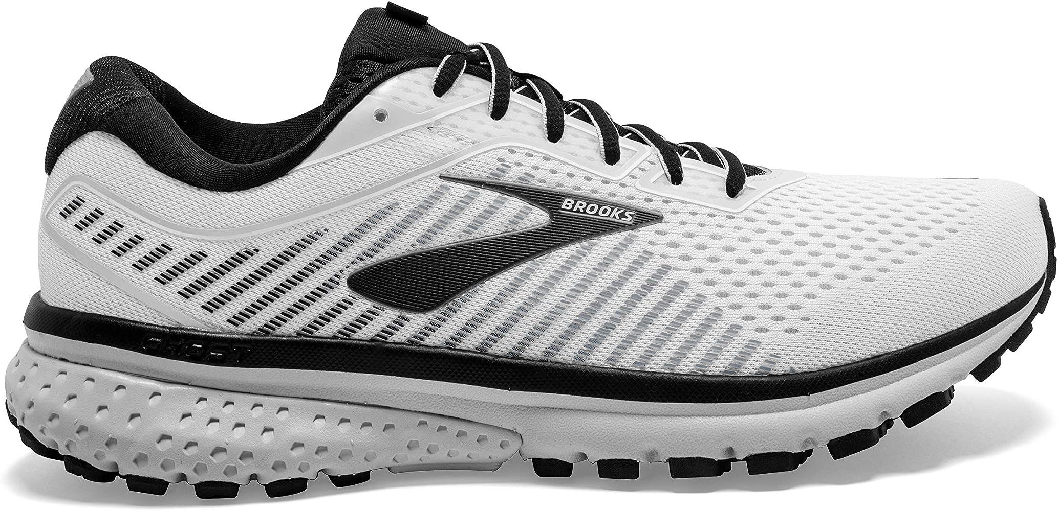 Brooks Ghost 12 - Zapatillas de running para hombre, Blanco (blanco/gris/negro (White/Grey/Black)), 41.5 EU: Amazon.es: Deportes y aire libre