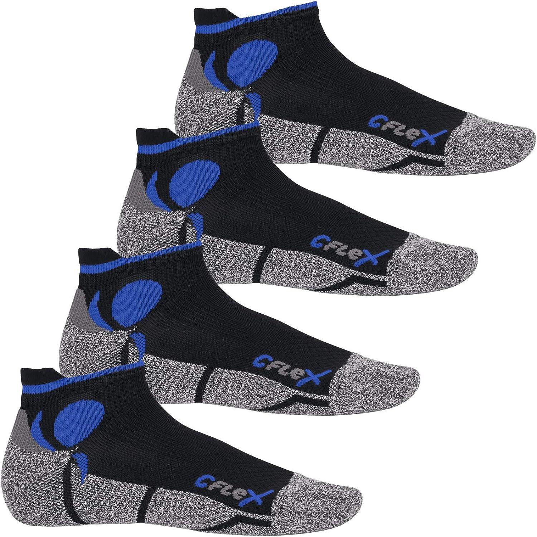 protection contre les chocs respirantes CFLEX Lot de 4 paires de chaussettes de sport