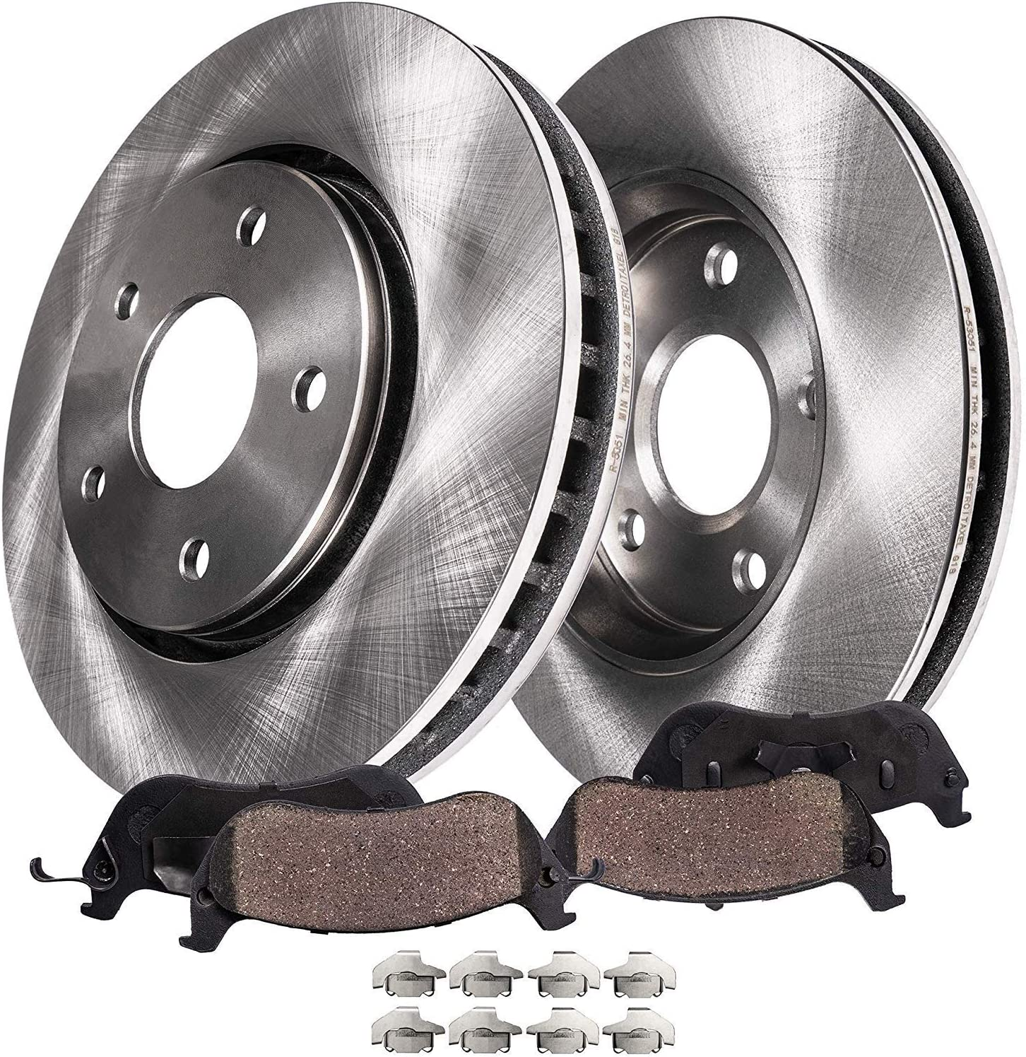 Front Brake Pad and Rotor Kit For 05-10 Honda Odyssey PP83X3