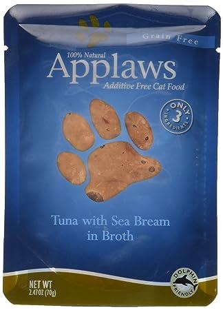 Applaws Bolsa de desayuno para gatos con tapa y diseño de atún marino, 68 ml: Amazon.es: Productos para mascotas