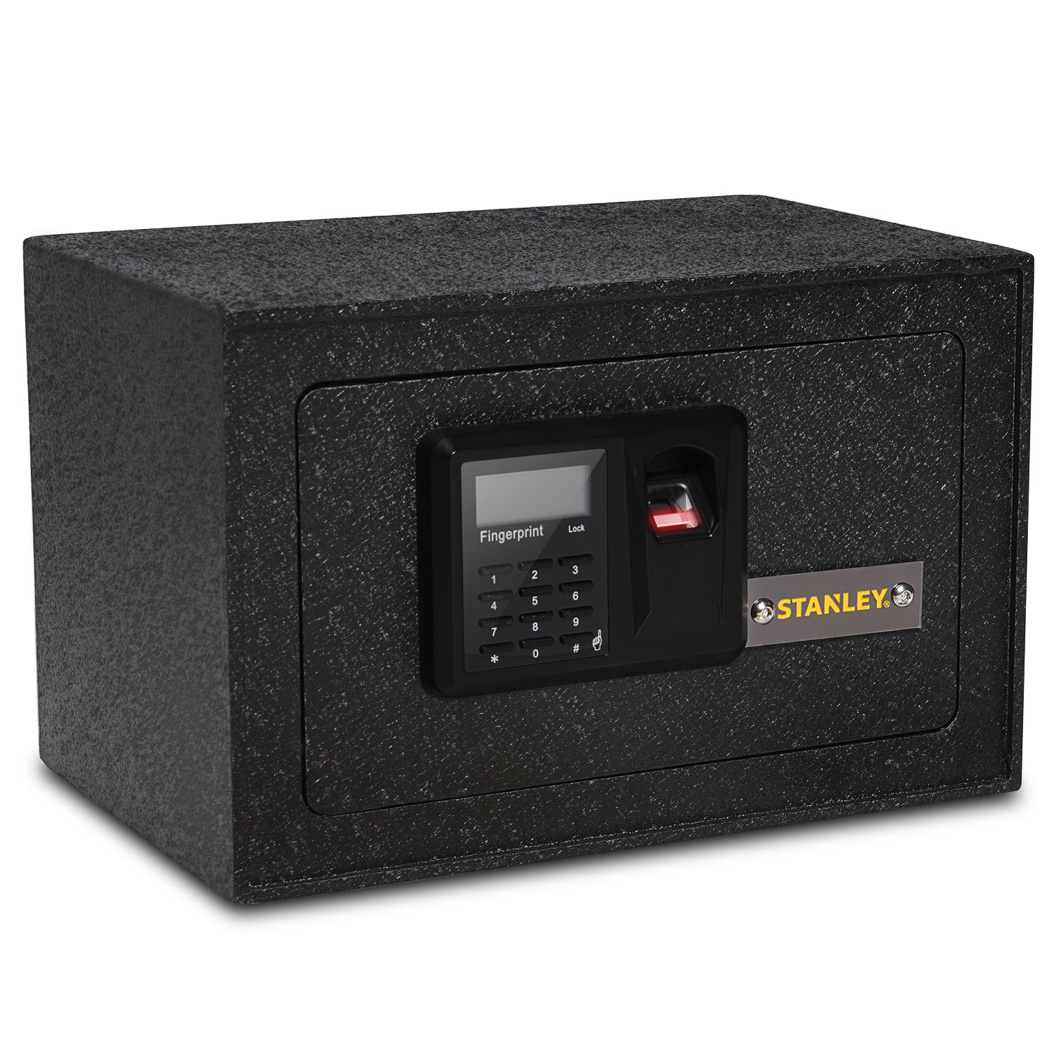 Stanley Solid Steel Biometric Personal Home Safe With Fast Access Fingerprint Recognition For Wall, Floor Or Closet � Secures Jewelry, Gun, Pistol, Firearms, Money, Valuable, Collectibles & More