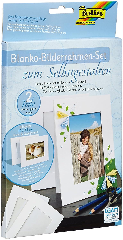 folia 2333/2 - Blanko Bilderrahmen Set zum Selbstgestalten: Amazon ...