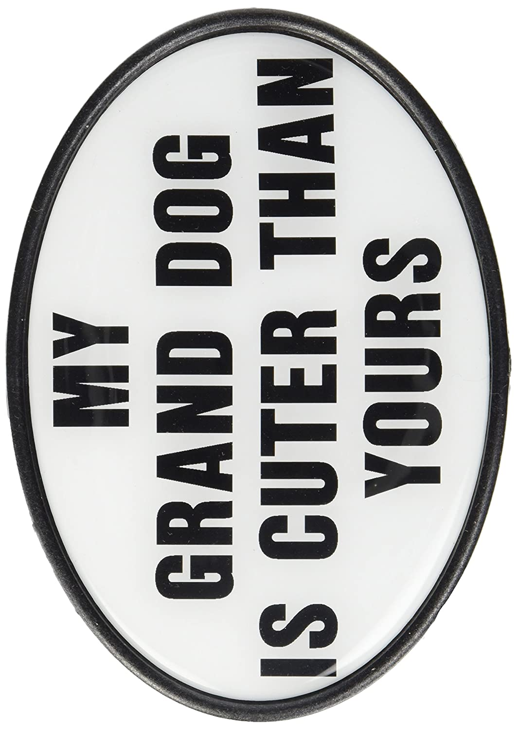Knockout 282 My Grand Dog is cuter Than Yours Hitch Cover