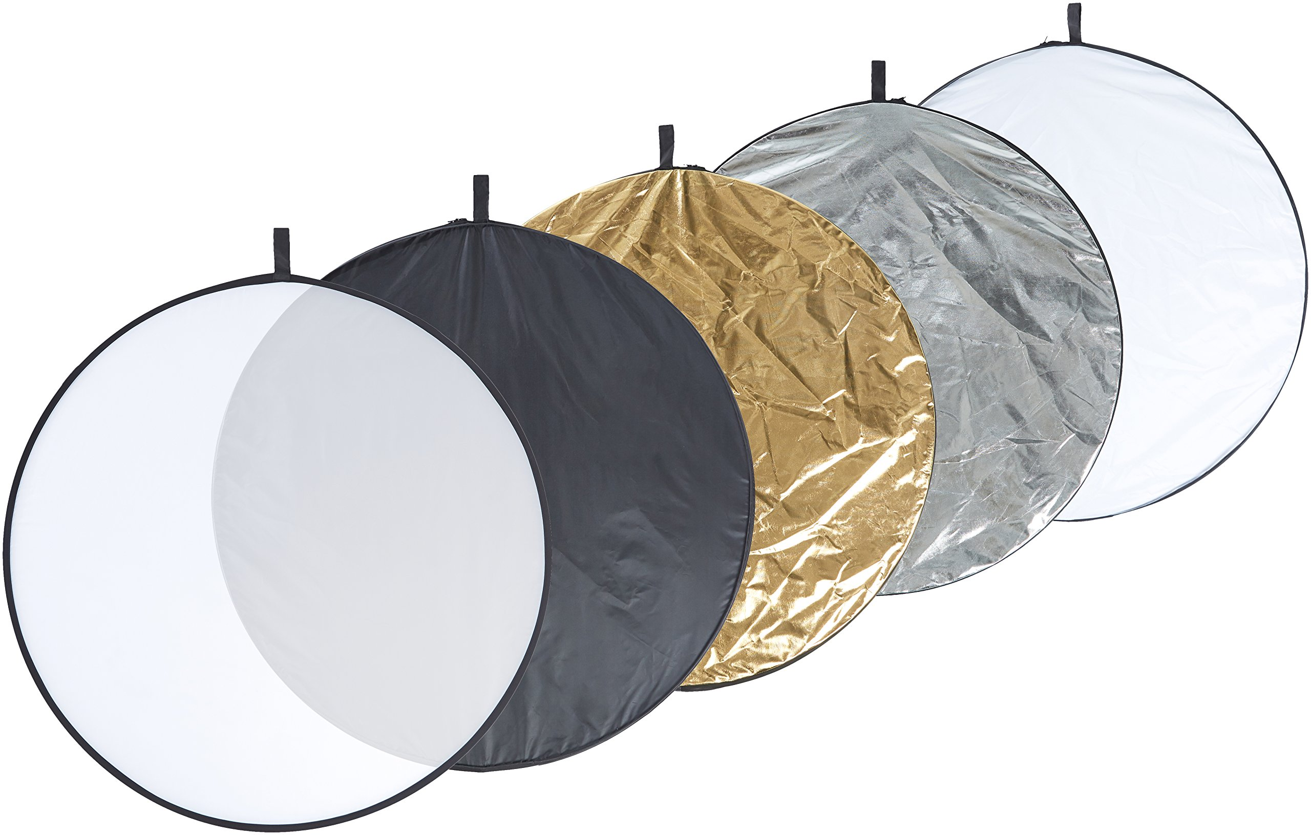 AmazonBasics 5 in 1 Collapsible Multi-Disc Photography Light Reflector with Bag - 43 Inch by AmazonBasics