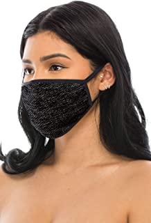 product image for Kurve 3 Packs Heather Fashion Masks, Unisex Polyester Spandex Mouth Masks, Washable, Breathable, Reusable Masks, Made in U.S.A. (One Size, Heather)