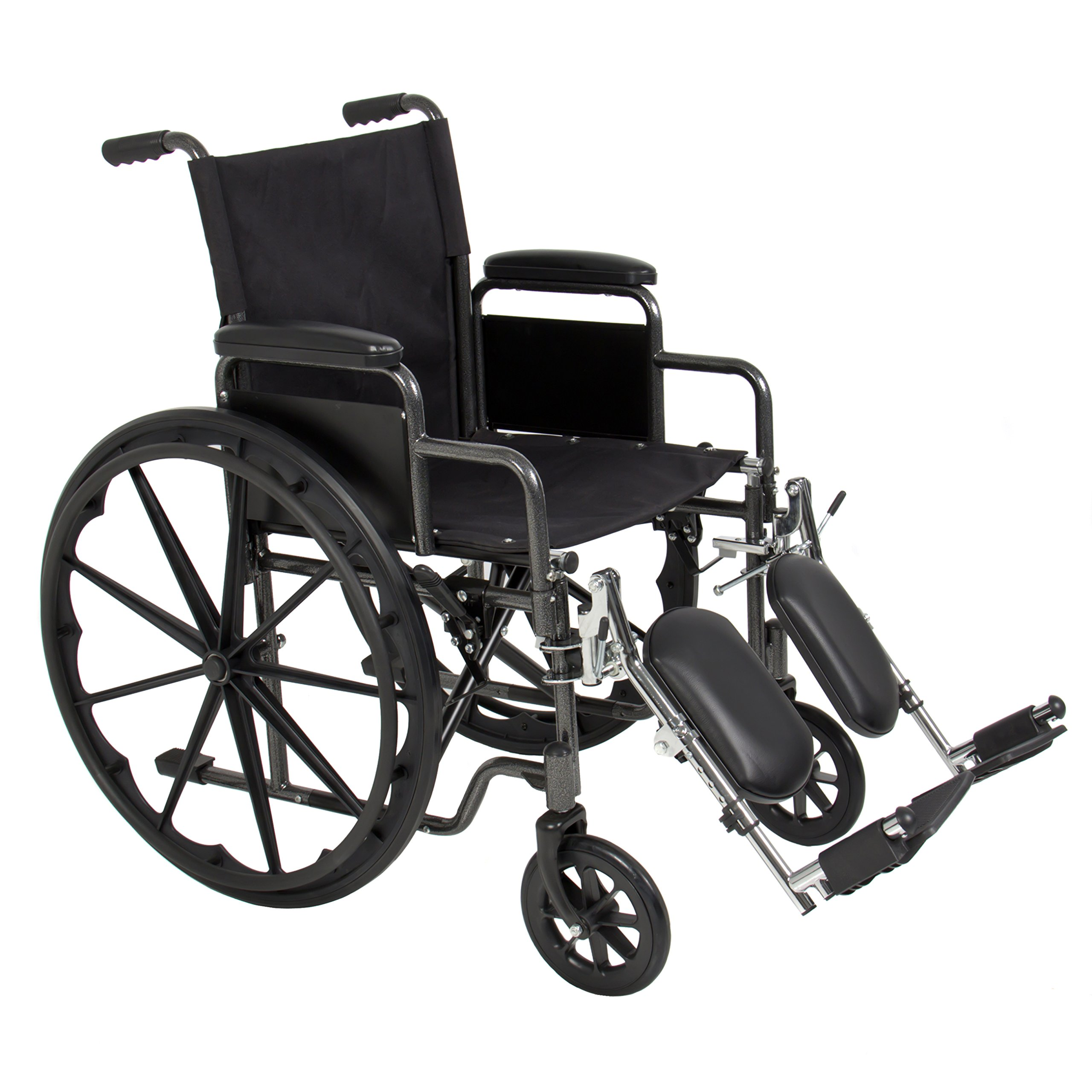 Best Choice Products Folding Lightweight Wheelchair w/ Full Armrests and Elevating Legrests - Black