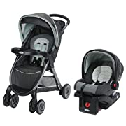 Graco FastAction Fold Click Connect Travel System Stroller, Bennett
