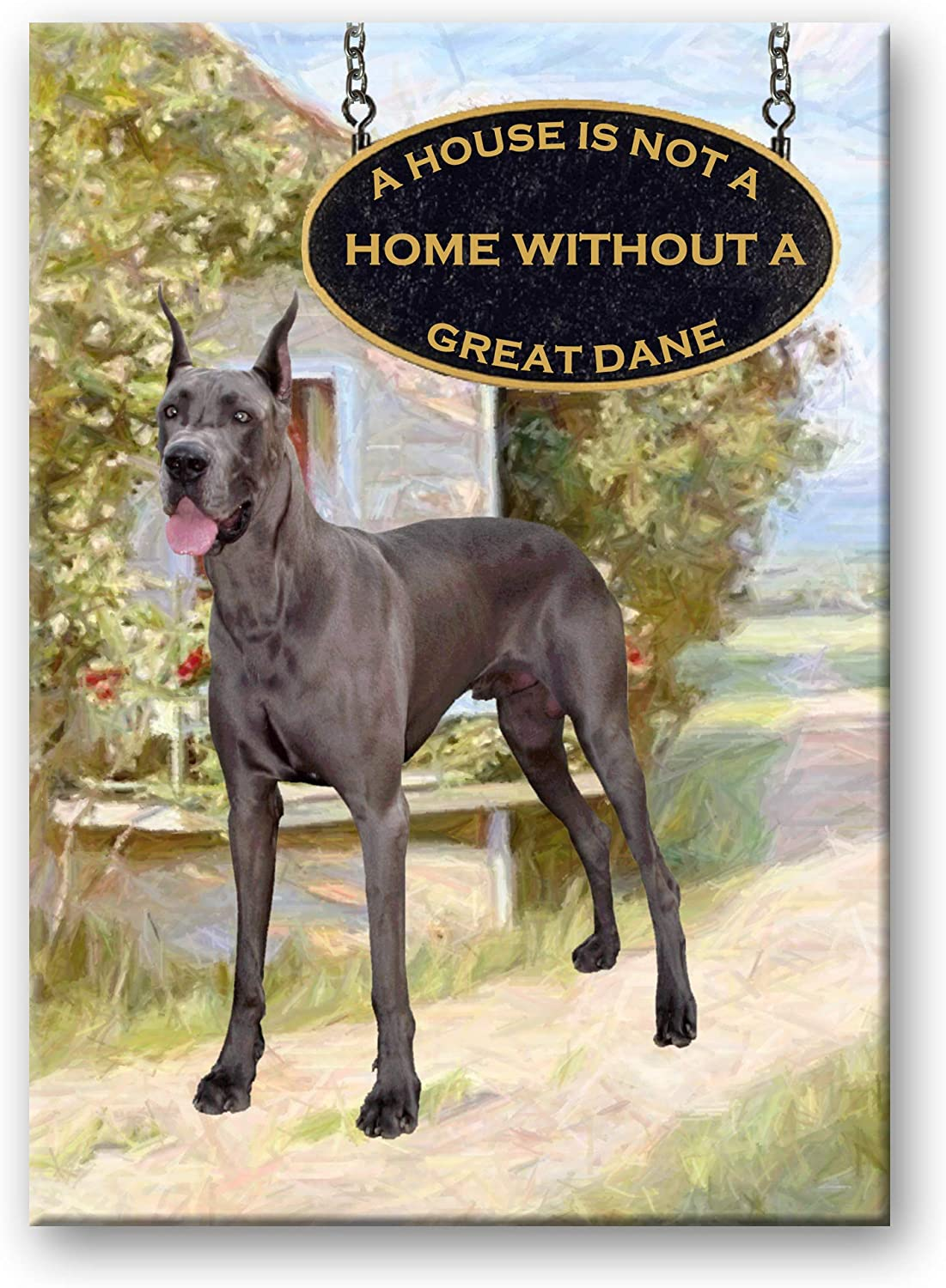 Great Dane a House is Not a Home Fridge Magnet No 2