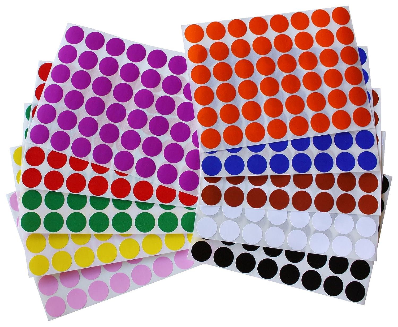 Etichette Colorate Scrivibili da 1,7cm Confezione da 336 Pezzi Royal Green Adesivi Rotondi Multiuso Neri da 17mm