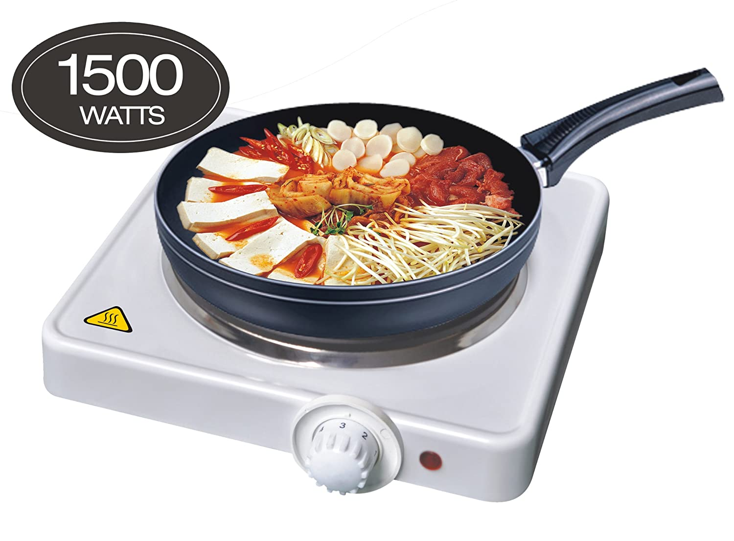 1500W Single Hob Table Top Hotplate Hot Plate (White)