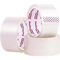 Packatape Transparant pakketplakband, 66 m lang en 48 mm breed, ideaal als plakband, verpakkingstape…