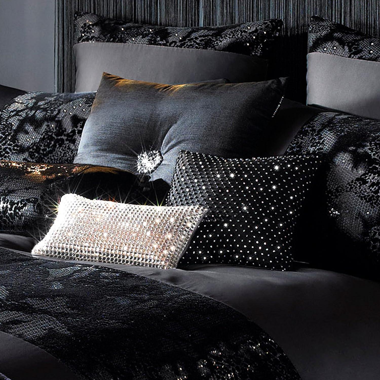 Celebrity Designer Kylie Minogue VALAZA Black Bed Linen Bedding  Duvet Cover New