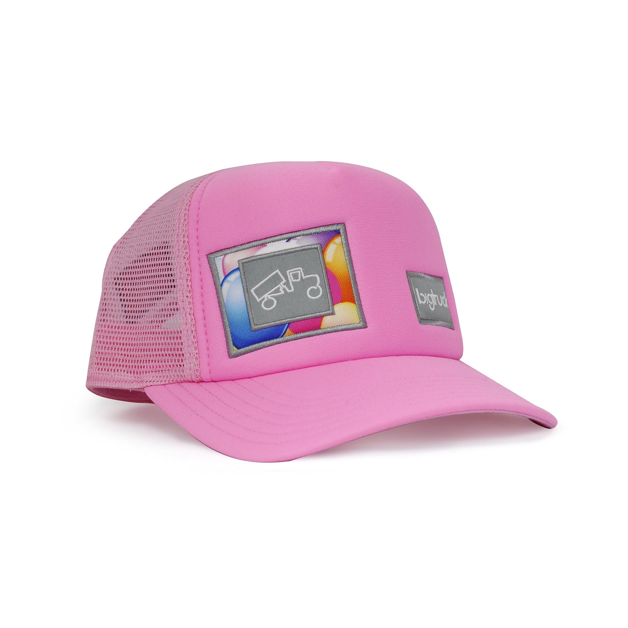 bigtruck Original Toddler Mesh Snapback Toddler Trucker Hat, Pink