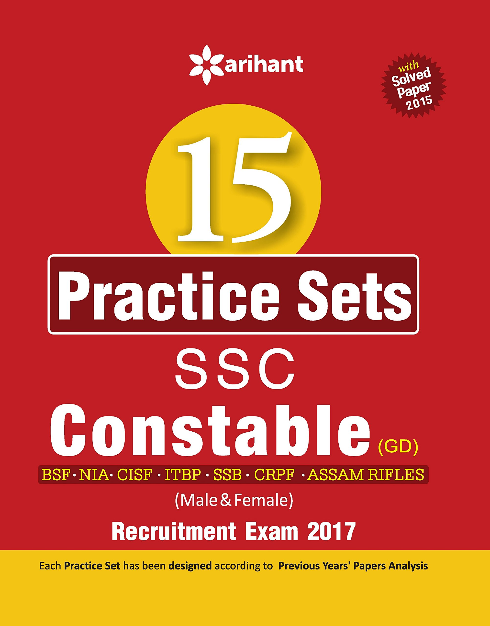 Buy 15 practice sets ssc constable gd entrance exam 2017 book buy 15 practice sets ssc constable gd entrance exam 2017 book online at low prices in india 15 practice sets ssc constable gd entrance exam 2017 fandeluxe Gallery