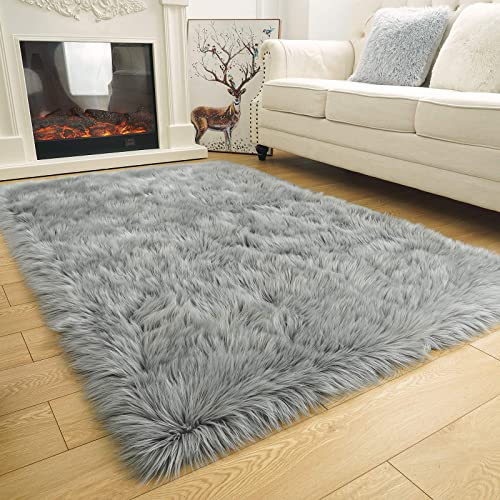 ISEAU Soft Faux Fur Fluffy Area Rug
