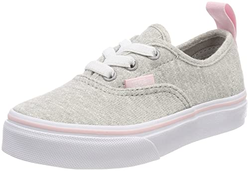 świetna jakość topowe marki różne wzornictwo Vans Kids Shimmer Jersey Authentic Elastic Lace Gray/Pink VN0A38H4Q6I Kids  Size 2.5