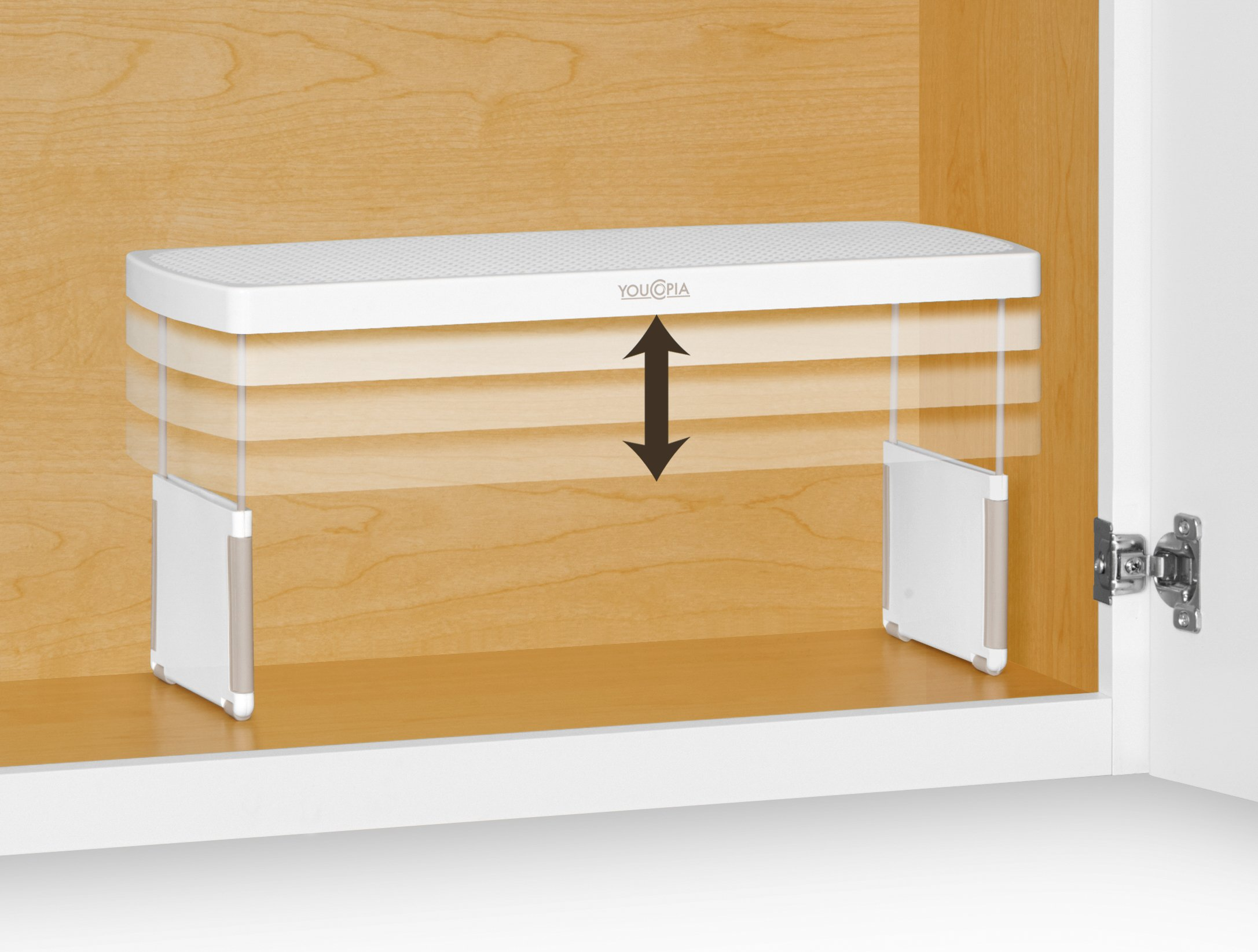 YouCopia StoreMore Height Expandable Kitchen Cabinet Shelf Organizer, 17-Inches