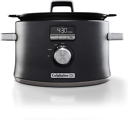 Roll over image to zoom in Calphalon Digital Sauté Slow Cooker