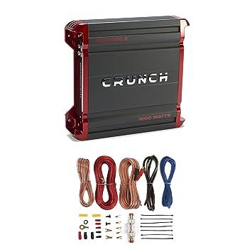 PowerZone Crunch (1000 W, 2 canales, clase AB amplificador de coche + 8
