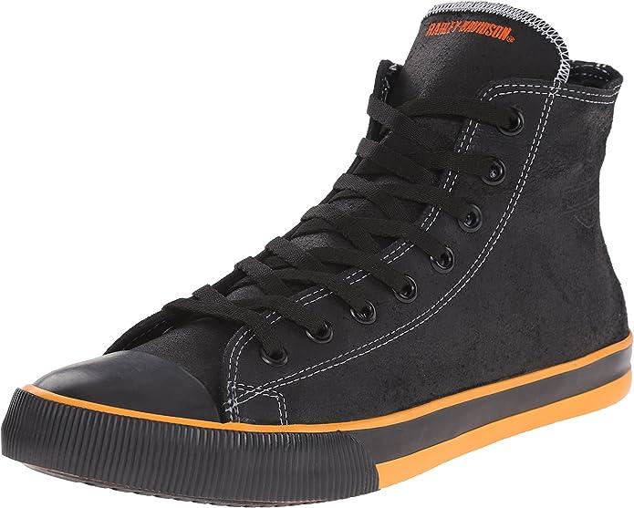Harley-Davidson Luton Herren Schwarz Leder Sneaker