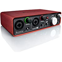 Focusrite Scarlett 2i2 - Accesorio de audio (24 Bit, 96 kHz, 20-20000 Hz, 46 Db, -127 Db, 10 Ohmio)