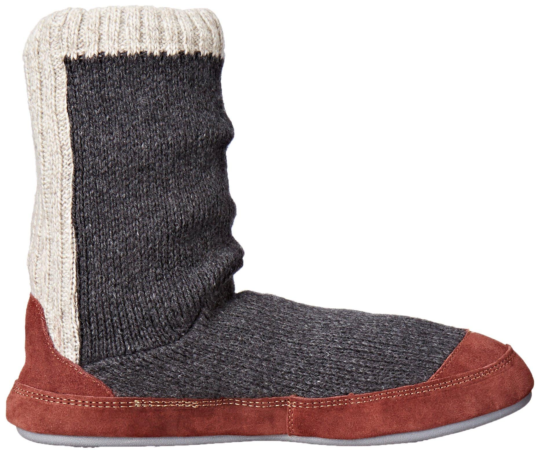 Acorn Men's Slouch Boot Slipper, Charcoal Ragg Wool, Medium/9-10 B US by Acorn (Image #7)