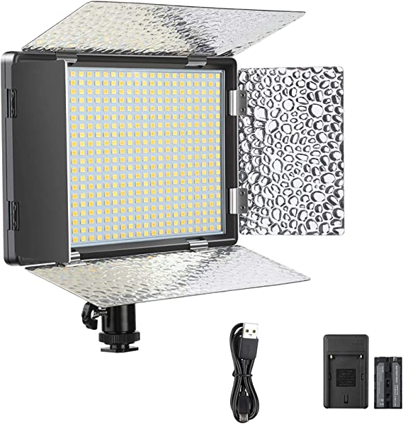 WinnerEco W24 LED Video Lamp Dimmable Lighting for Canon Nikon Pentax DSLR