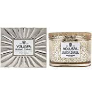 Voluspa Blond Tabac Corta Maison Glass Candle, 11 Ounces