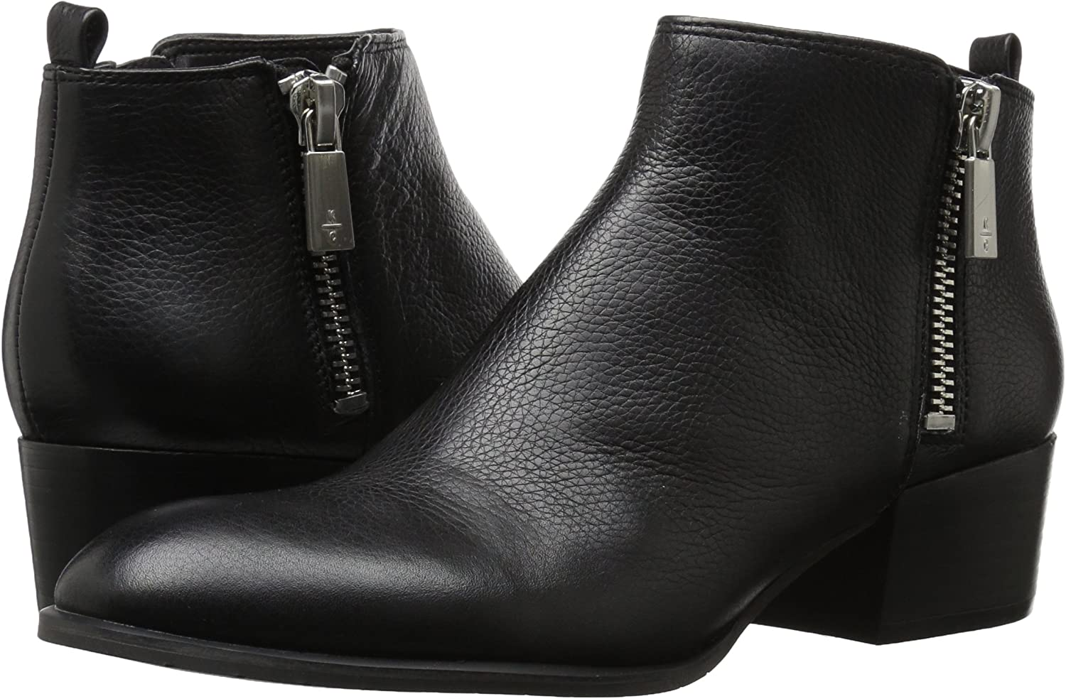 Kenneth Cole New York Womens 7 Addy Low Bootie with Double Zip Sides Ankle Boot