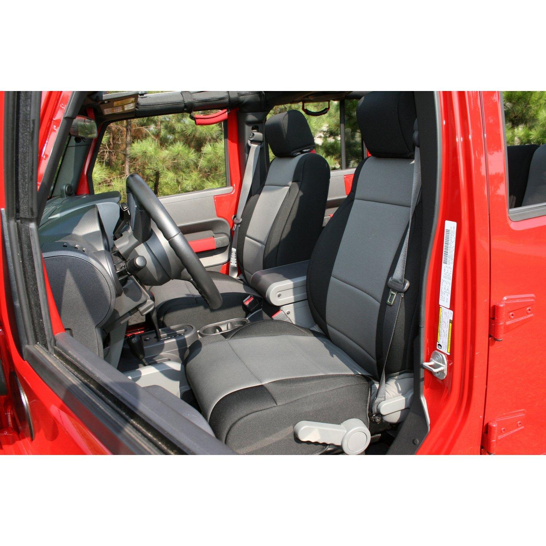 2007-2010 Jeep Wrangler JK 2 Door 2 Pack Rugged Ridge 13294.01 Black Seat Cover Kit