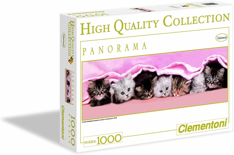 Clementoni - Puzzle de 1000 Piezas, Panorama, diseño Gatitos bajo ...