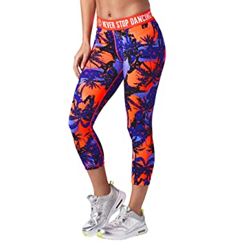 Zumba Fitness Damen Bonfire Babe Capri Leggings Frauenhosen