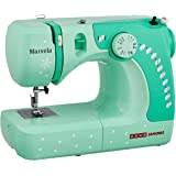 Usha Janome Marvela 60-Watt Sewing Machine (White/Green Decals)