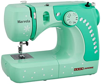 Usha Janome Marvela 40Watt Sewing Machine WhiteGreen Decals Custom Marvel Sewing Machine
