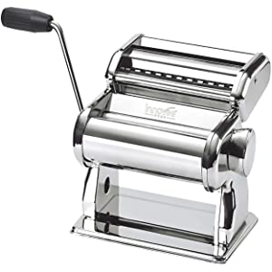 Nuvantee Pasta Maker – Highest Quality Pasta Machine - 150 Roller With Pasta Cutter – 7 Adjustable Thickness Settings – Make Perfect Spaghetti or Fettuccini – Heat-Treated Gears for Long Life