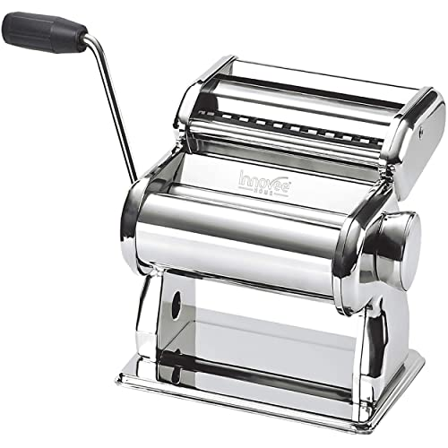 Innovee Pasta Maker - Highest Quality Pasta Machine - 150 Roller With Pasta Cutter - 7 Adjustable Thickness Settings - Make Perfect Spaghetti or Fettuccini - Heat-Treated Gears for Long Life
