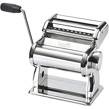Innovee Pasta Maker – Highest Quality Pasta Machine - 150 Roller With Pasta Cutter – 7 Adjustable Thickness Settings – Make Perfect Spaghetti or Fettuccini – Heat-Treated Gears for Long Life