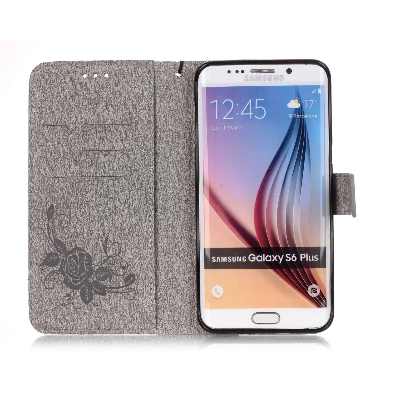 #6# SchutzH/ülle Flip f/ür Samsung Galaxy S6 Edge Plus TOCASO H/ülle f/ür Galaxy S6 Edge Plus Leder H/ülle Case SchutzH/ülle Wallet Case Card Slots Handytasche Leder H/ülle Schutz H/üllen