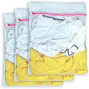AimtoHome Set of 3 Mesh Laundry Bags - 3 Large - Premium Quality: Laundry Bag for Blouse, Hosiery, Underwear, Bra and Baby Clothing, Travel Laundry Bag